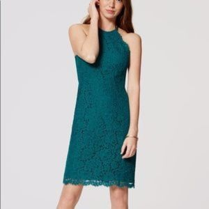 Loft Emerald Green Halter Dress